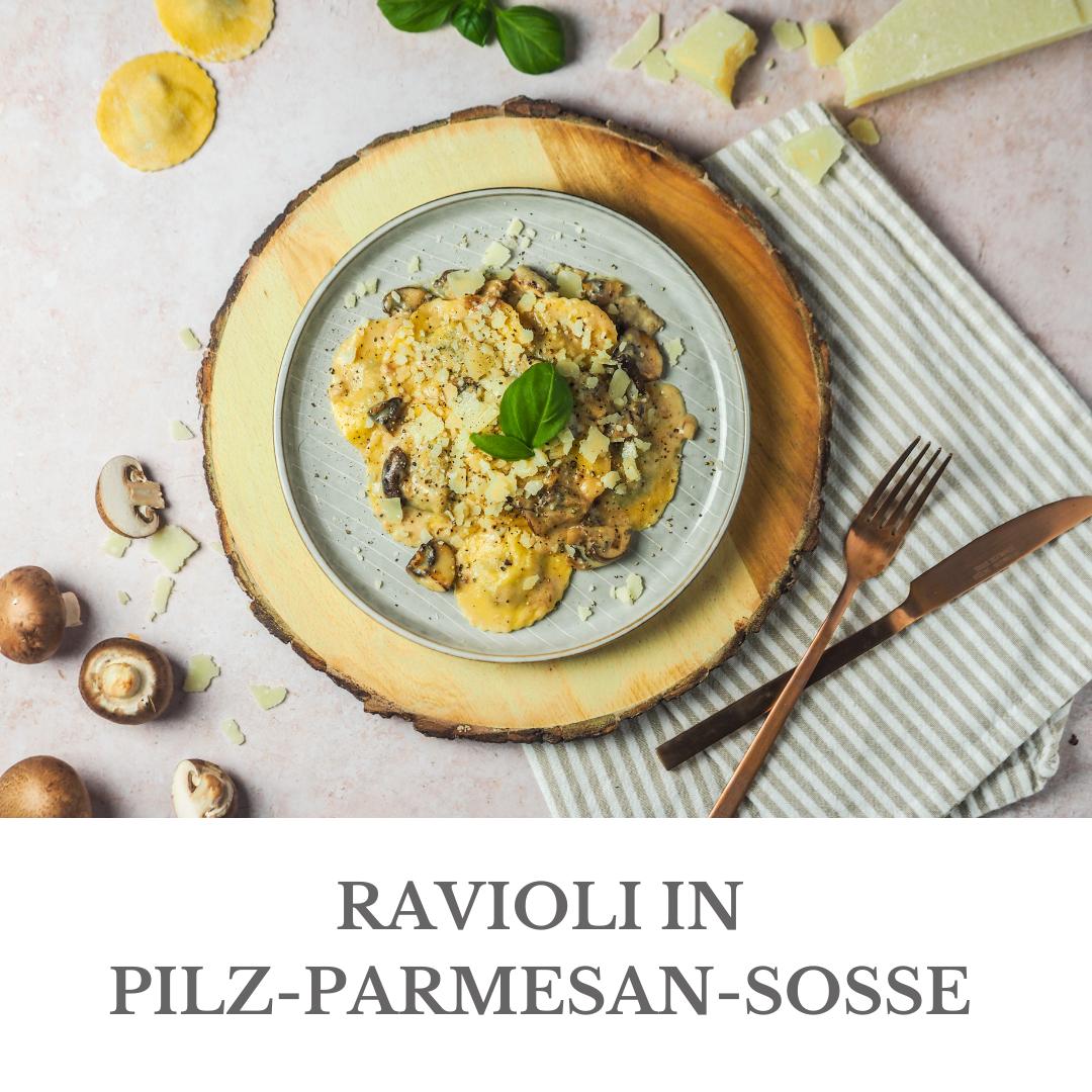 RAVIOLI IN PILZ-PARMESAN-SOSSE - LOUI BAKERY