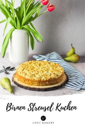 Birnen Streusel Kuchen