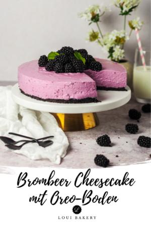 Brombeer Cheesecake mit Oreo-Boden