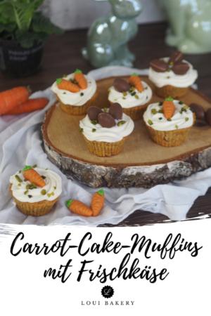 Carrot-Cake-Muffins mit Frischkäse Topping
