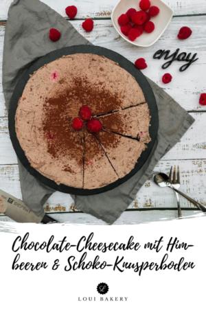 Chocolate Cheesecake mit HImbeeren & Schoki-Knusperboden
