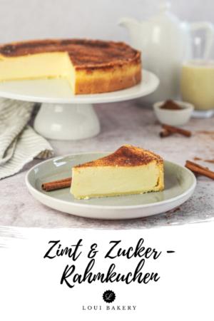 Cremiger Zimt & Zucker - Rahmkuchen
