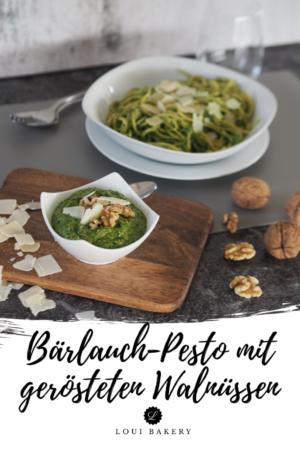 Gärlauch-Pesto mit gerösteten Walnüssen