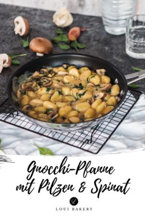 Gnocchi-Pfanne mit Pilzen & Spinat