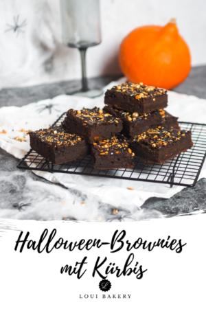Halloween-Brownies mit Kürbis