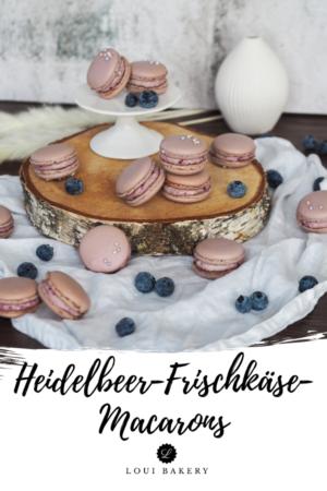 Heidelbeer-Frischkäse-Macarons