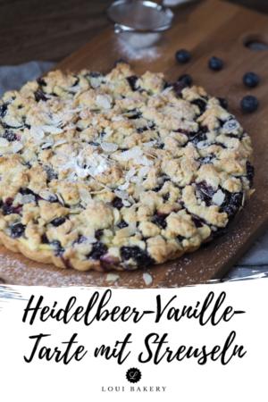Heidelbeer-Vanille-Tarte mit Streuseln