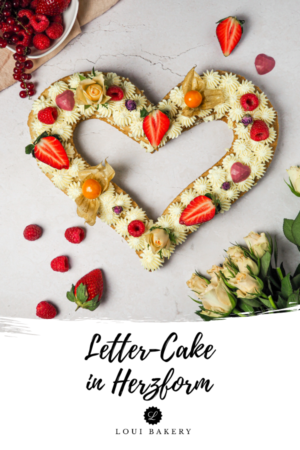 Letter Cake in Herzform