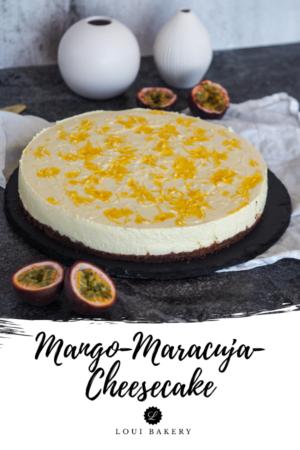 Mango-Maracujá-Cheesecake ohne backen