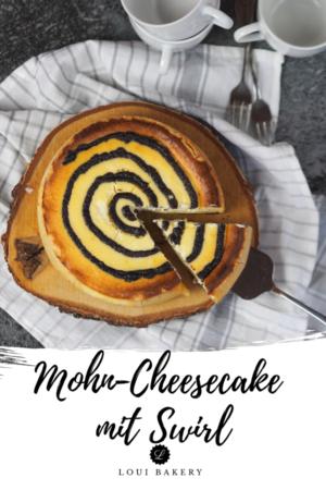Mohn-Cheesecake mit Swirl