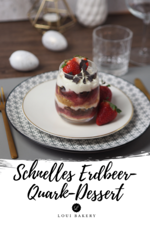 Schnelles Erdbeeren-Quark-Dessert