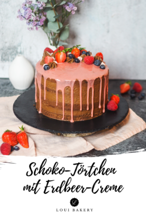 Schoko-Törtchen mit Erdbeercreme