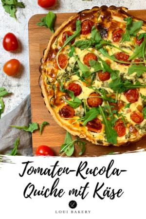Tomaten-Rucola-Quiche mit Käse