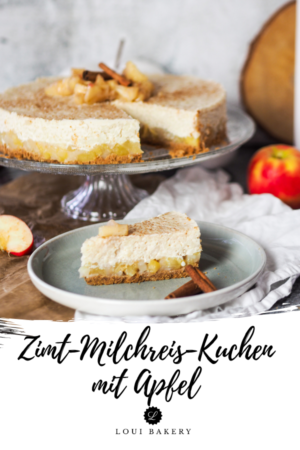 Zimt-Milchreis-Kuchen mit Apfel
